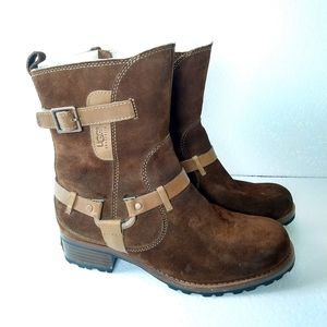 UGG outdoor shearling lug sole boots 7